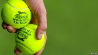 Tennis balls at Wimbledon