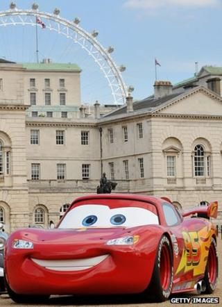 "Lightning McQueen car from ""Cars"" film"