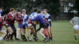School rugby match