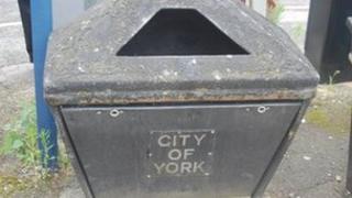 Litter bin in York