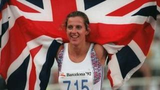 Sally Gunnell in 1992