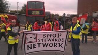 Edgware bus garage demonstration