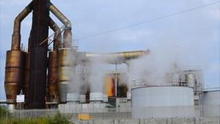 Guernsey Electricity power station generating
