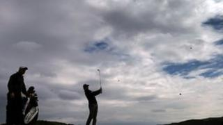 Rory McIlroy of Northern Ireland in action during practice for the 2012 Irish Open held on the Dunluce Links at Royal Portrush Golf Club