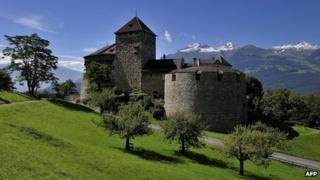 Vaduz Castle, residence of the royal family of Liechtenstein, seen on 3 September 2010 (file photo)