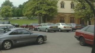 Car park by the Mansion House, Ashton Court Estate, Bristol