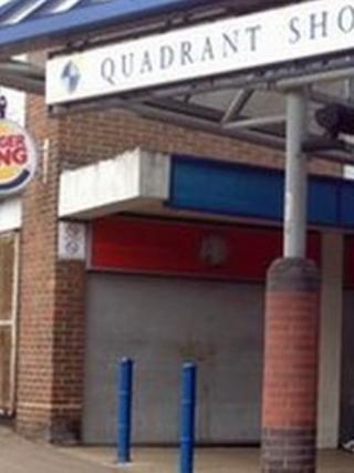 Quadrant shopping centre in Dunstable