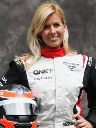 f1 marussia driver maria de villota in duxford crash bbc news. Black Bedroom Furniture Sets. Home Design Ideas