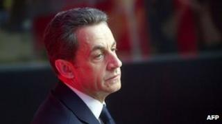 File image of former French President Nicolas Sarkozy