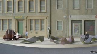 Designs of sculptures in Shaftesbury