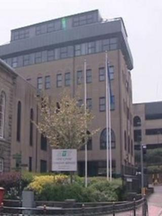 A Torfaen council building in Pontypool