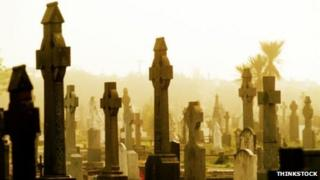Stock image of a cemetery