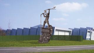 Artists impression of Ravenscraig sculpture