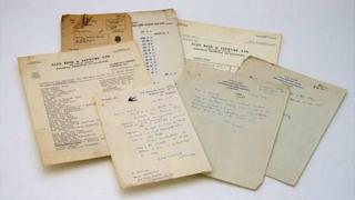 Collection of LS Lowry's personal documents
