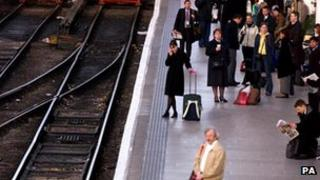 Passengers at Manchester Piccadilly