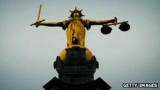 Lady Justice at the Old Bailey
