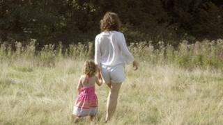 Mother and child on Hampstead Heath
