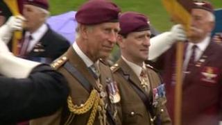 The Prince of Wales at the National Memorial Arboretum