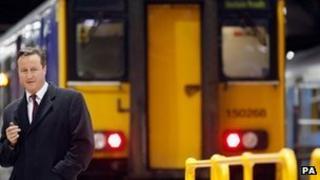 David Cameron visits rail depot in Manchester in November