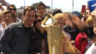 Olympic flame in Jersey