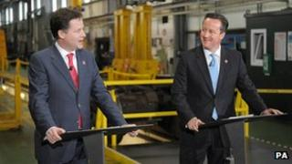 Nick Clegg and David Camerob