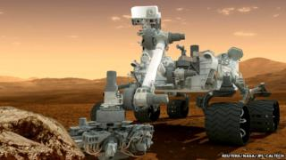 Artist's impression of Mars Curiosity rover