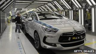 Peugeot car production line