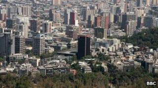 Santiago skyline (file photo from 2008)