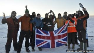 British Antarctic Survey staff join in Olympic bell-ringing event