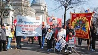 Remploy staff strike for a second day