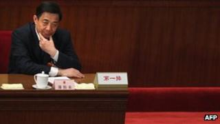 Bo Xilai at People's Congress in Beijing, 9 March