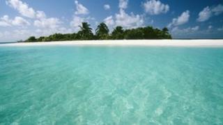 Tropical atoll