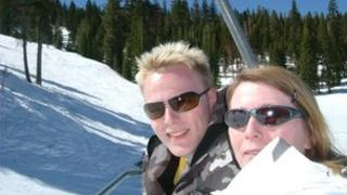 Colin Marr and his mother, Margaret on holiday in California 2007