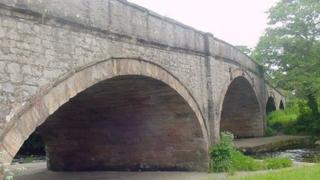 Bridge over the River Elwy at St Asaph, Denbighshire