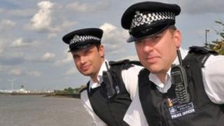 PC Jason Campbell (left) and PC Stefan Rule