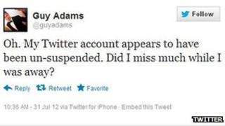 Guy Adams Twitter screenshot