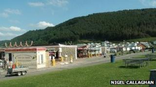 Caravan park at Clarach Bay