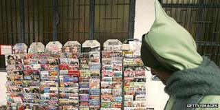 News stand in Rabat