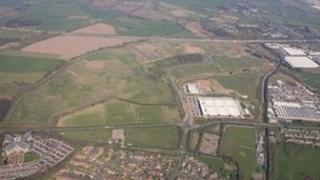 Aerial photo of i54 site