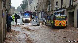 Flooding in Jedburgh