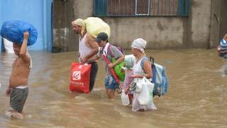 Flooded street in Marinina City. Photo: Julie Greeny
