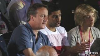 David Cameron and Amir Khan