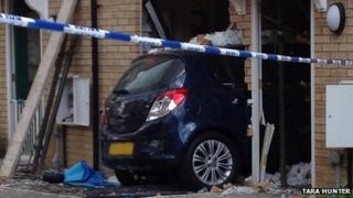 Car crashes into house in Carbrooke, Norfolk