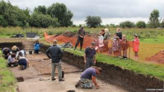 Trench at Flag Fen dig