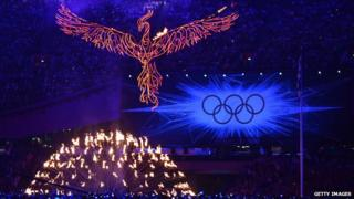 Olympic flame begins to be extinguished