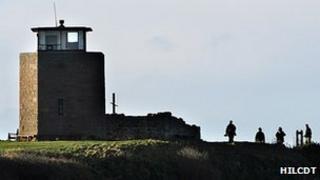 Holy Island of Lindisfarne tower