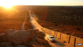 US-Mexican border near Campo, California (file picture)