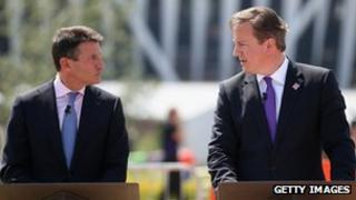 Lord Coe (left) and David Cameron