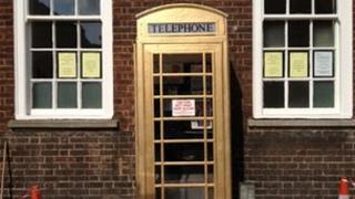 Golden phone box