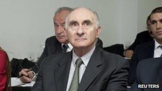Former president de la Rua in court